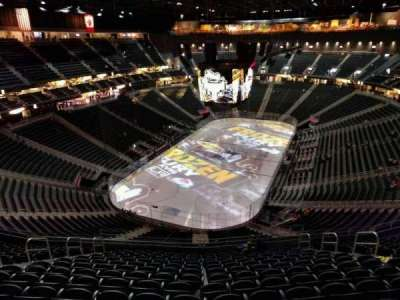 T-Mobile Arena, section: 216, row: p, seat: 10
