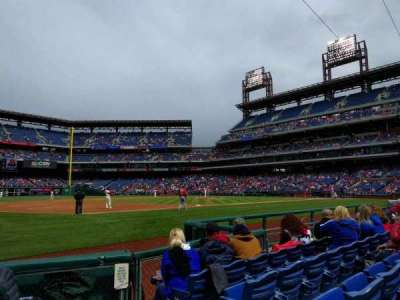Citizens Bank Park, section: 134, row: 5, seat: 1