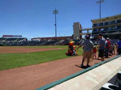 Isotopes Park, section: 115, row: a, seat: 23