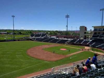 Isotopes Park, section: 205, row: l, seat: 14