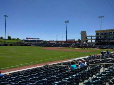 Isotopes Park, section: 121, row: j, seat: 13