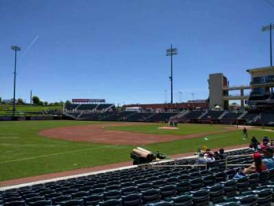 Isotopes Park, section: 117, row: l, seat: 14