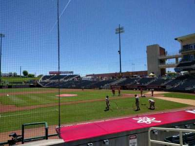 Isotopes Park, section: 113, row: j, seat: 5
