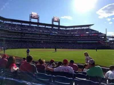 Citizens Bank Park, section: 109, row: 7, seat: 13