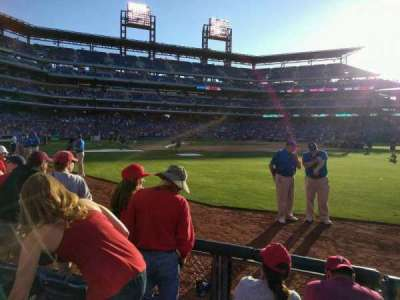 Citizens Bank Park, section: 108, row: 4, seat: 1