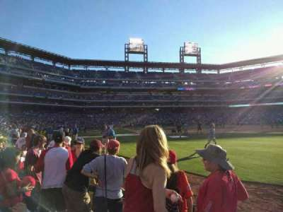 Citizens Bank Park, section: 108, row: 4, seat: 2