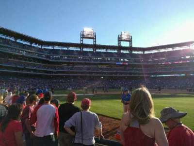Citizens Bank Park, section: 108, row: 4, seat: 3