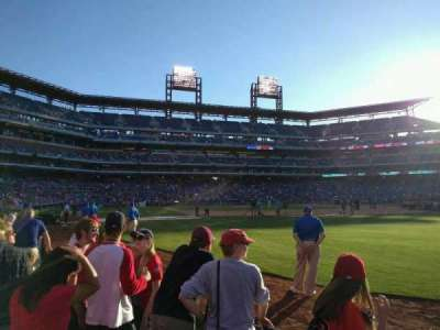 Citizens Bank Park, section: 108, row: 4, seat: 4