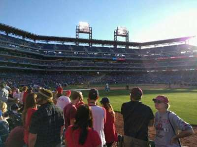 Citizens Bank Park, section: 108, row: 4, seat: 6