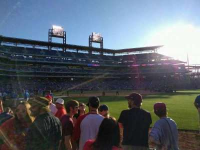 Citizens Bank Park, section: 108, row: 4, seat: 7