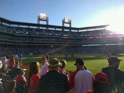 Citizens Bank Park, section: 108, row: 4, seat: 8