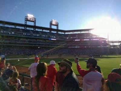 Citizens Bank Park, section: 108, row: 4, seat: 9