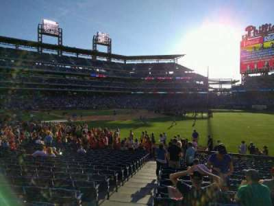 Citizens Bank Park, section: 109, row: 22, seat: 18