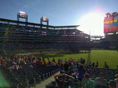 Citizens Bank Park, section: 109, row: 22, seat: 16