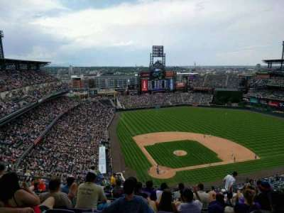 Coors Field, section: U328, row: 24, seat: 13