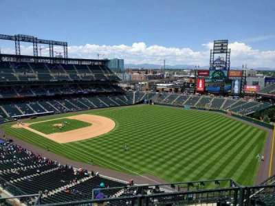 Coors Field, section: U313, row: 12, seat: 9