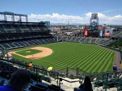 Coors Field, section: U314, row: 16, seat: 4