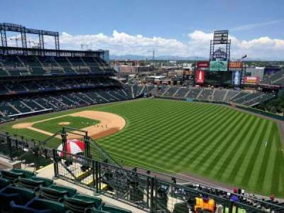 Coors Field, section: U315, row: 13, seat: 11