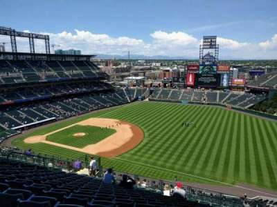 Coors Field, section: U317, row: 21, seat: 10