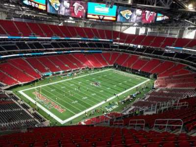Mercedes-Benz Stadium, section: 347, row: 21, seat: 13