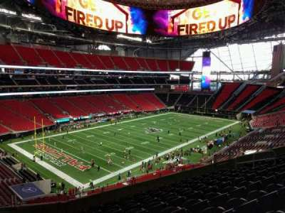 Mercedes-Benz Stadium, section: 218, row: 9, seat: 16