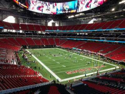 Mercedes-Benz Stadium, section: 202, row: 1, seat: 4