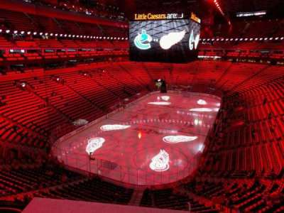 Little Caesars Arena, section: m1, row: 1, seat: 11