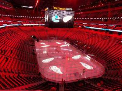 Little Caesars Arena, section: m6, row: 1, seat: 3