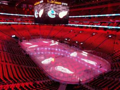 Little Caesars Arena, section: m4, row: b, seat: 8