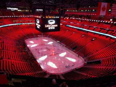 Little Caesars Arena, section: 221, row: 8, seat: 16