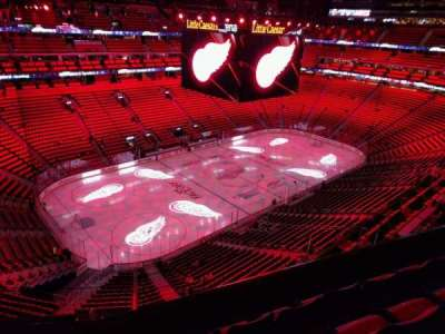 Little Caesars Arena, section: 215, row: 4, seat: 8