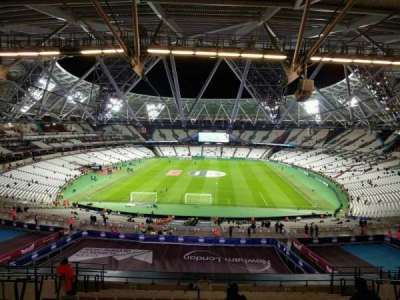 London Stadium, section: 222, row: 63, seat: 854