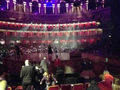 Royal Albert Hall, section: Stalls M, row: 6, seat: 118