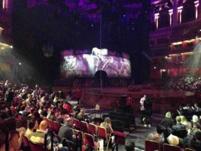 Royal Albert Hall, section: Stalls J, row: 7, seat: 56