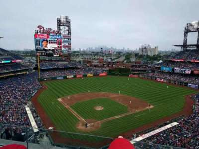 Citizens Bank Park, section: 419, row: 3, seat: 17