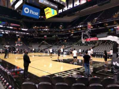 AT&T Center, section: 16, row: 5, seat: 18