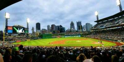 PNC Park, section: 121, row: AA, seat: 8