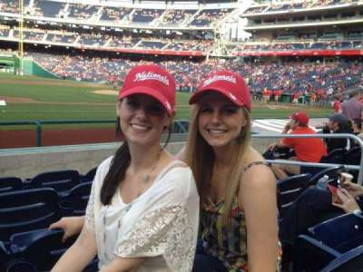 Nationals Park, section: 115, row: H, seat: 5