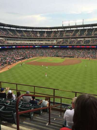 Globe Life Park in Arlington section 250
