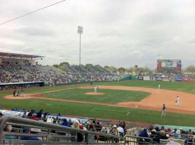 Hohokam Stadium, section: 213, row: FF, seat: 1