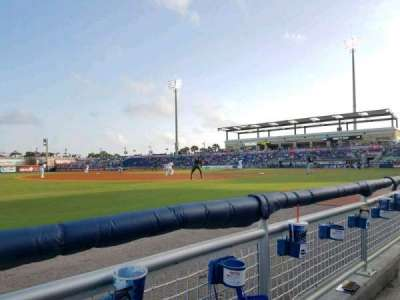 Blue Wahoos Stadium, section: 111, row: A, seat: 12