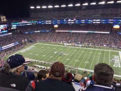 Gillette Stadium, section: 306, row: 16, seat: 23
