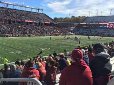 Alumni Stadium, section: A, row: 21, seat: 3
