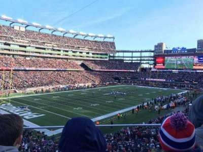 Gillette Stadium, section: 238, row: 2, seat: 5