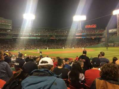 Fenway Park, section: Right Field Box 97, row: GG, seat: 4
