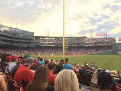 Fenway Park, section: Right Field Box 93, row: FF, seat: 5
