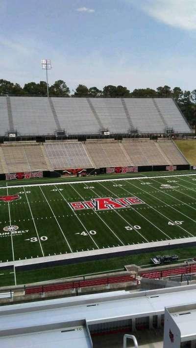 Centennial Bank Stadium, section: EE, seat: 43
