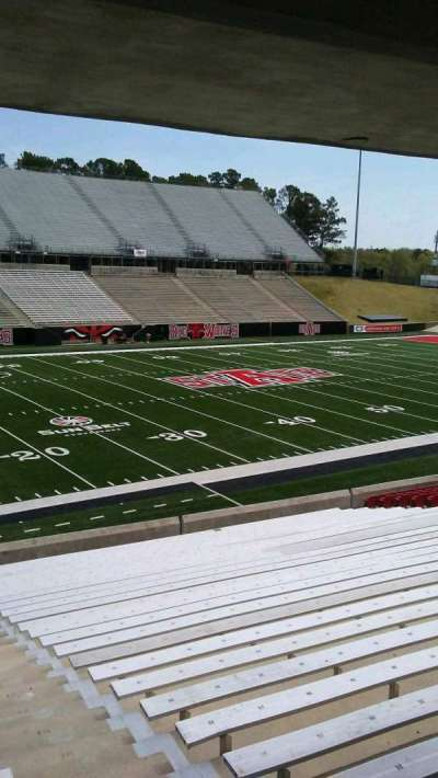 Centennial Bank Stadium, section: H, row: 27