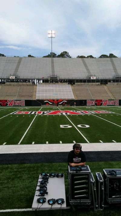 Centennial Bank Stadium, section: E, row: 1, seat: 19