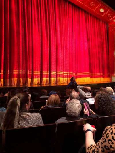 Marquis Theatre, section: Orchestra L, row: F, seat: 11